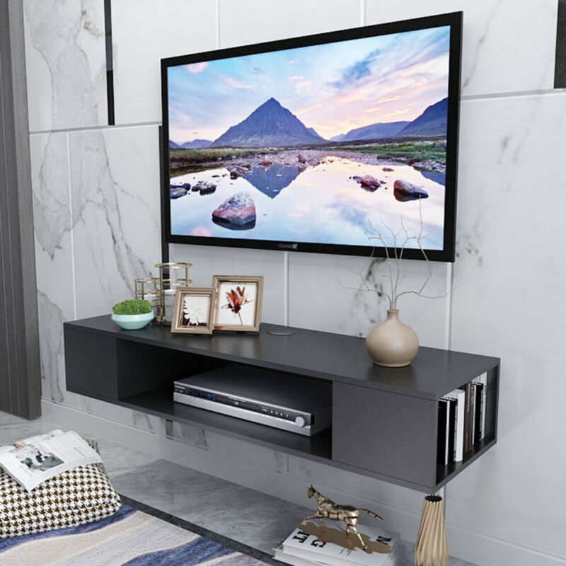 """40""""Wall Mount Media Center Shelf Floating Entertainment Console TV Stand Cabinet"""