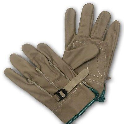 Premium Cowhide Leather Work Gloves Waterproof Industrial Heat Resistant