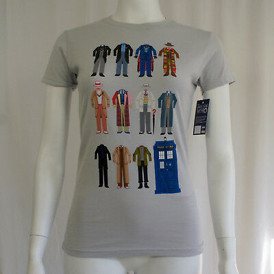 DOCTOR WHO Dr Who Doctor Outfits Girl Juniors T-Shirt XL NEW - Dr Who Outfits