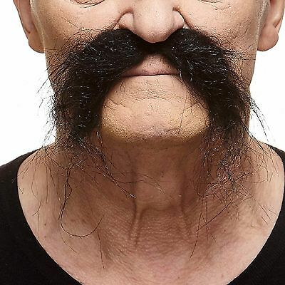 High quality Realistic Fu Manchu fake, self adhesive mustache - Fake Fu Manchu Mustache