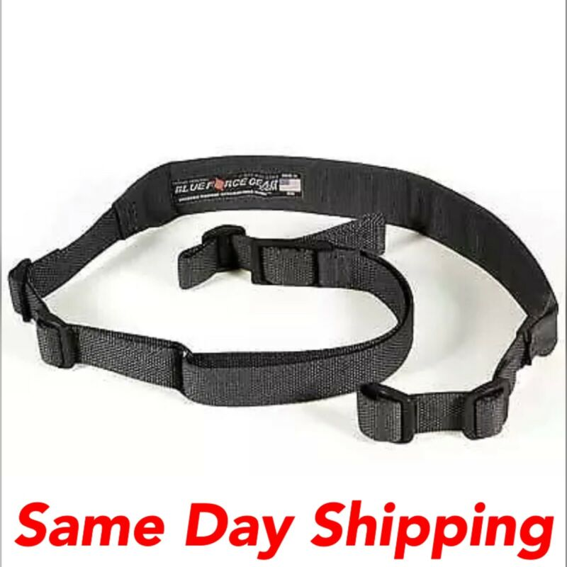 Blue Force Gear Vickers 2-Point Combat Rifle Sling Padded Black VCAS-200-OA-BK