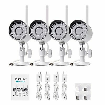 Funlux 720p HD 4 IP Wireless Alfresco IR Non-stop Phantasm Knowledgeable in Insurance Camera Plan