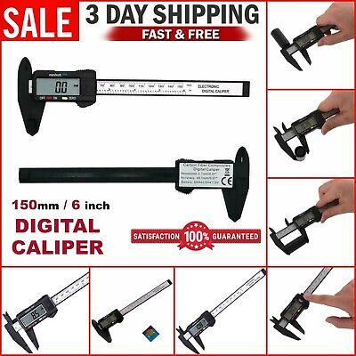Digital Electronic Vernier Caliper Gauge Carbon Fiber Micrometer Ruler 150mm 6