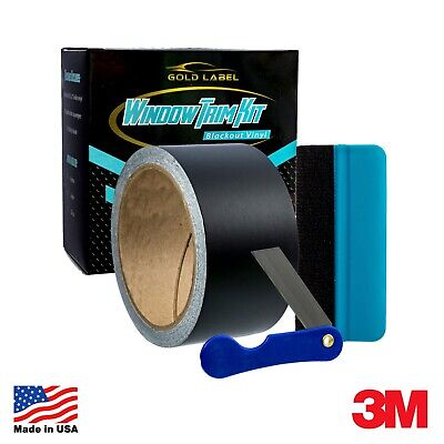 3M 1080 Black Out Window Trim Door Trim Vinyl Wrap Kit Gloss Satin and -