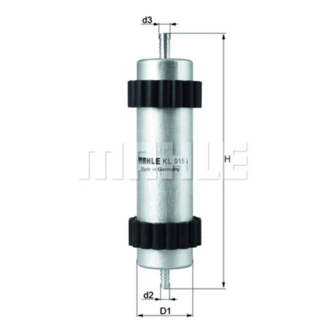 Inline Fuel Filter - MAHLE KL 915 - Car - Fits Audi A6, A7 - Genuine Part
