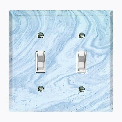 Metal Light Switch Cover Wall Plate Marble Granite Stone Pattern Blue MAR013 Light Switch Cover Stone