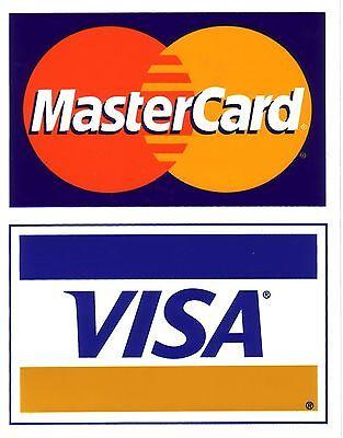Qty 10 - Credit Card Logo Decal Sticker - Visa Mastercard