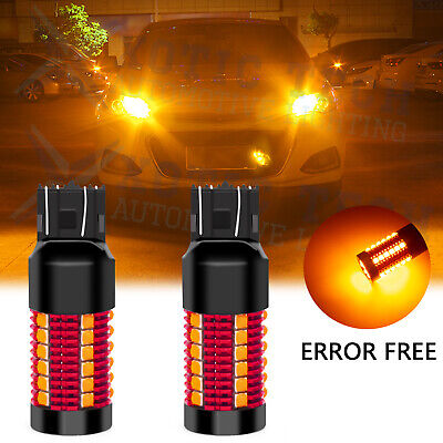 Error Free 7440 7443 LED Front Turn Signal Light Bulbs Anti Hyper Flash Canbus for sale  Shipping to Nigeria