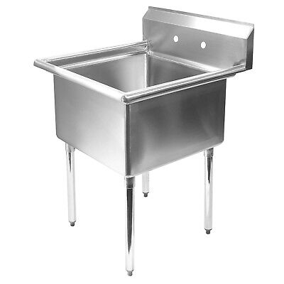 "Stainless Steel Commercial Kitchen Utility Sink - 30"" wide"