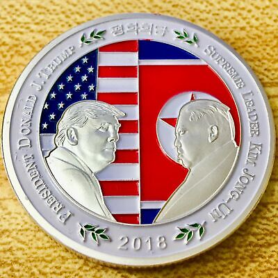 2018 North Korea–United States Summit Silver Challenge Coin - US SELLER