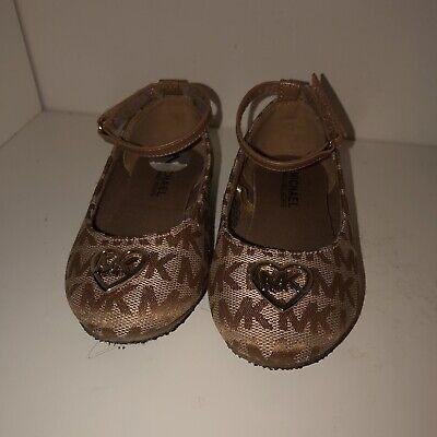 Michael Kors Kids Toddler Shoes Size 7 color gold