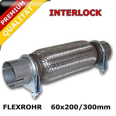 Flexrohr Ø60x200/300mm Montage ohne schweißen+2 M8 Schellen