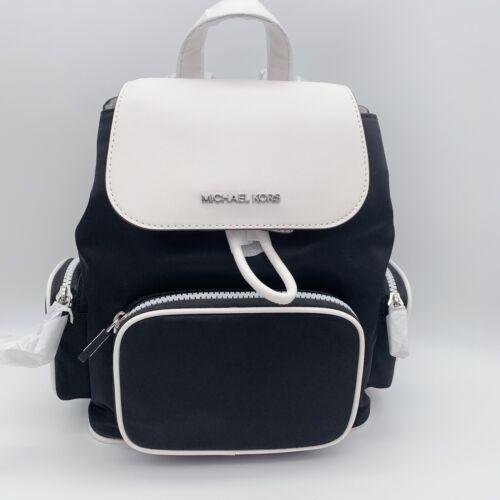 NWT MICHAEL KORS Abbey Medium Cargo Backpack Black/White