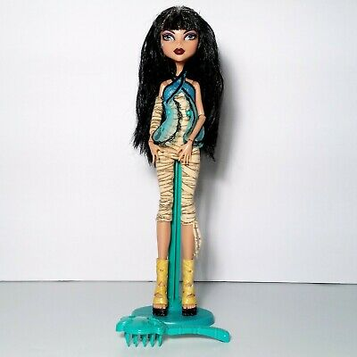 Monster High First Wave Cleo De Nile Doll w/ Stand Brush Mattel
