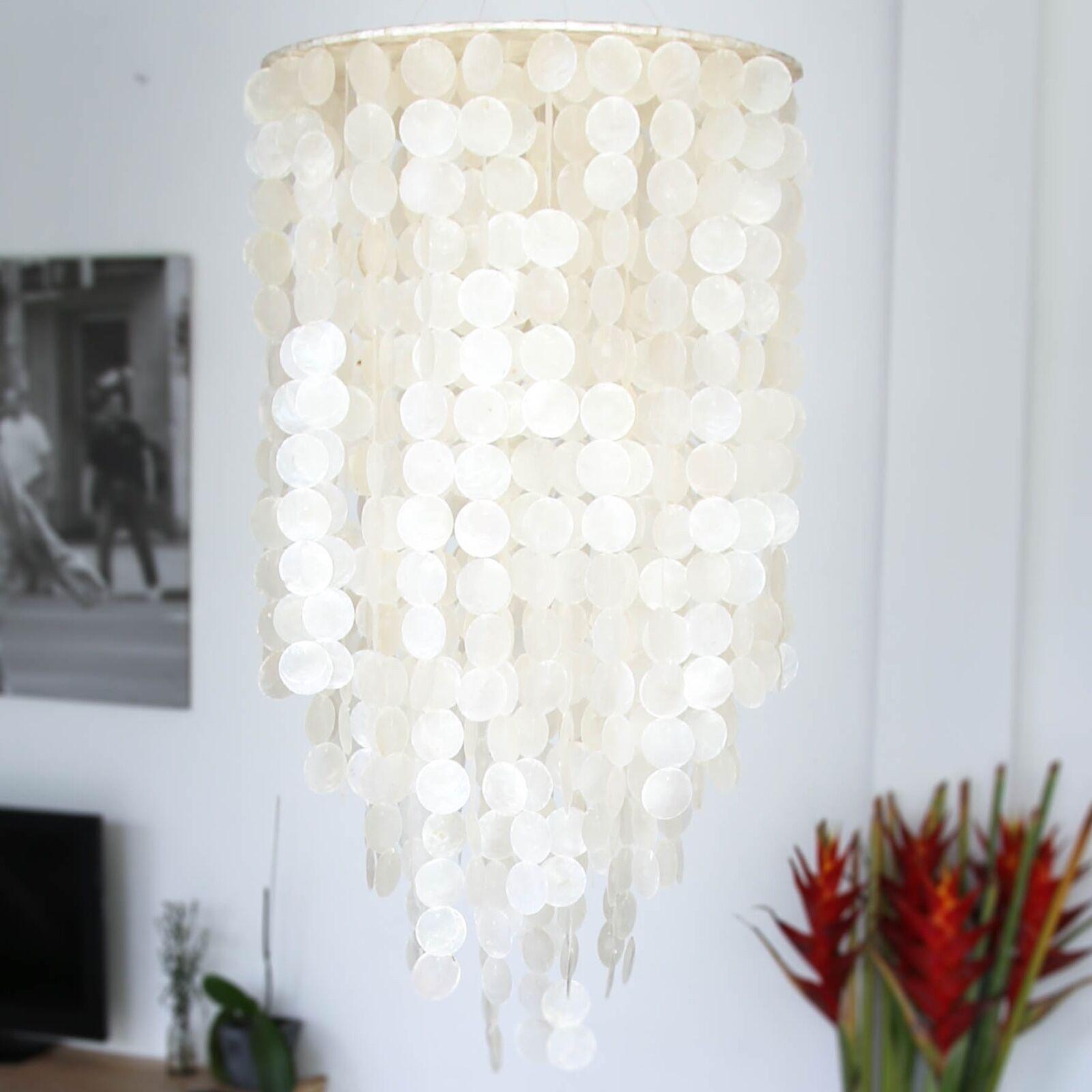 Capiz Shell Chandelier Light Pendant Lighting Lamp Nacre Furniture Pendants Ebay