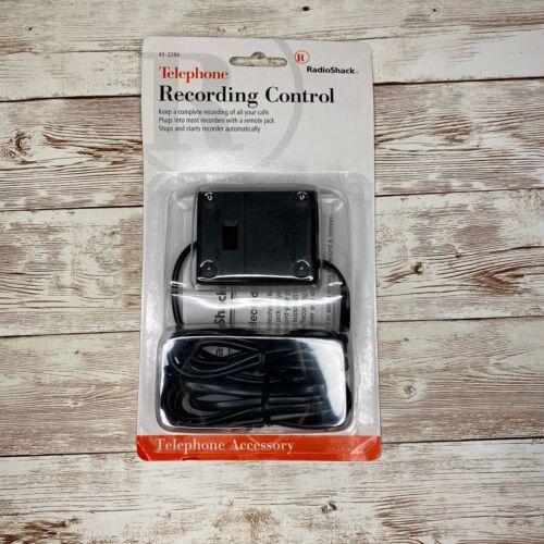 Telephone Recording Control for landline phones Radio Shack