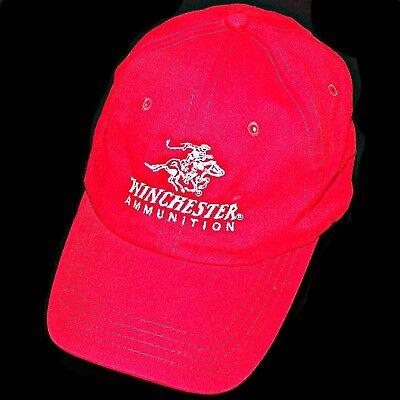 Winchester Firearms Logo Rifle Shotgun Ammo Gun Ammunition Red Baseball Hat  Cap 9a9c61445120
