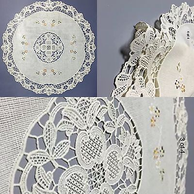 Oval Placemat Gifts - Vinyl Lace Placemats Four Plastic Beige  Floral 4 Round Set Christmas Gift