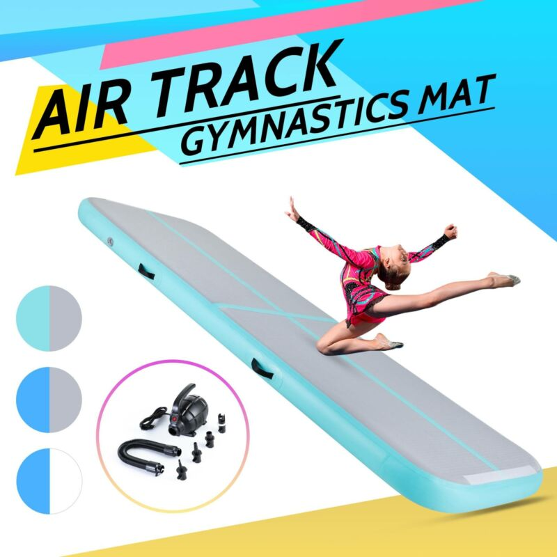 Inflatable 10Ft Gymnastics Mat Air Track Tumbling Mat Drop S