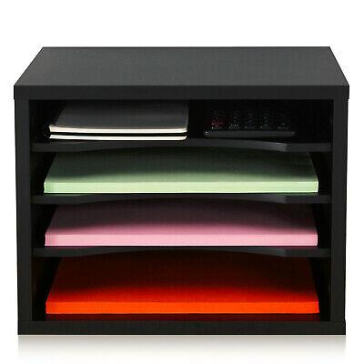 Schreibtisch Ablagesystem Tisch Organizer aus Holz 35,5 x25cm schwarz stapelbar  ()