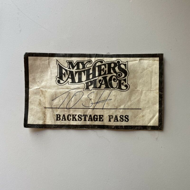 PETER TOSH - BACKSTAGE PASS - MY FATHERS PLACE CLUB IN ROSLYN - JULY 4TH, 1978