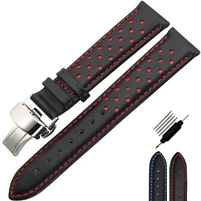 ZLIMSN Genuine Leather Watch Band Sports Wrist Strap for Samsung Gear S3 20 22mm
