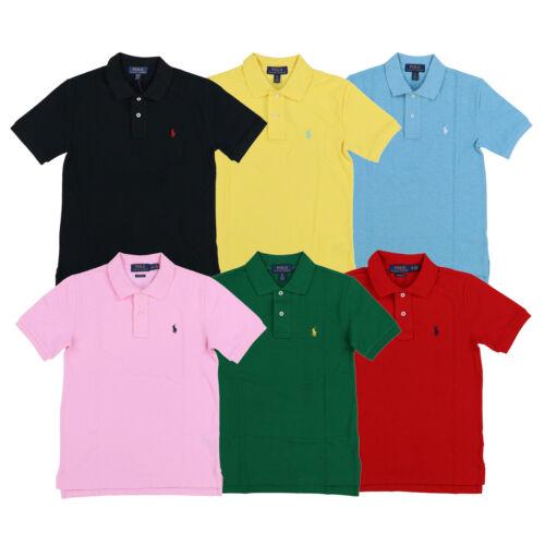 Polo Ralph Lauren Boys Polo Shirt Classic Mesh Short Sleeve Pony Logo Kids Top