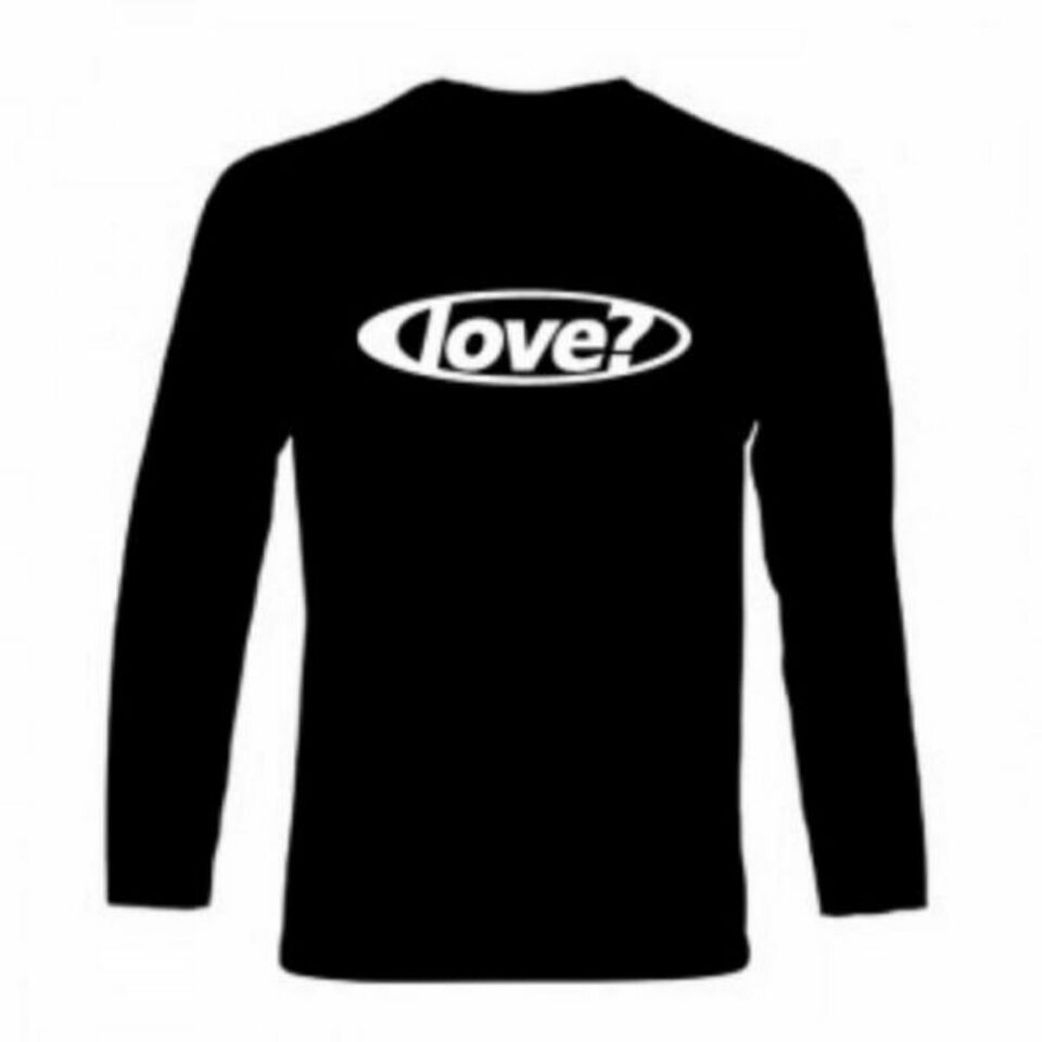 Love? Logo T-Shirt, Long Sleeve, Black, Round – Men in Diespeck