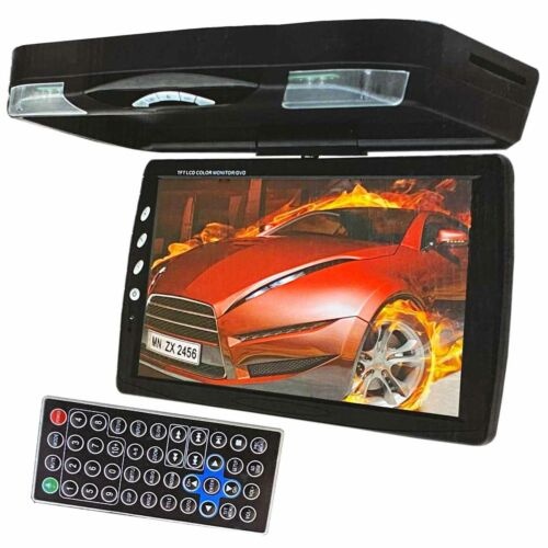 "NEW XtremeVsion 15.1"" TFT LCD Car Roof Mount Flip Down DVD SD Monitor  IR -Black"