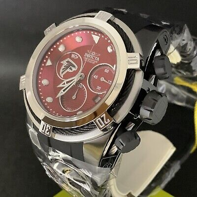 Invicta NFL Atlanta Falcons 53mm Bolt Zeus Swiss Mvt Strap Watch Model # 30224