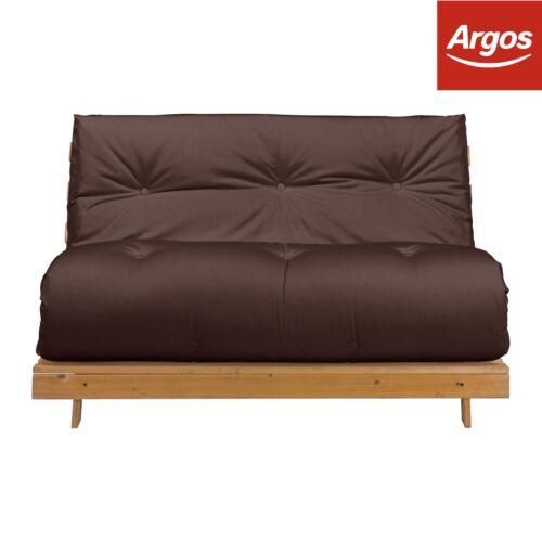 Argos Home Tosa 2 Seater Futon Sofa Bed Chocolate