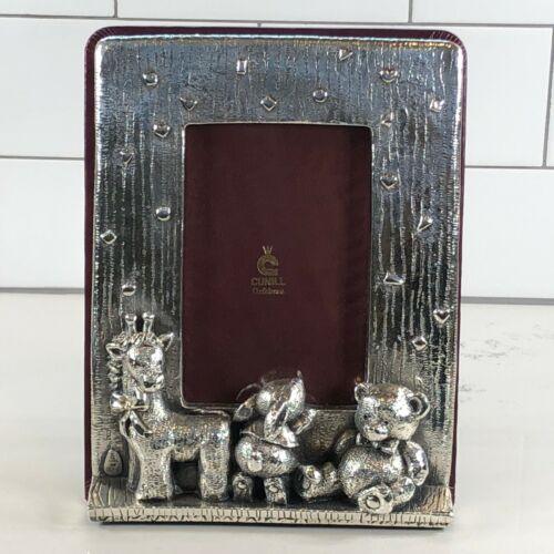 Cunill Orfebres Sterling Silver Baby/Nursery Frame Giraffe Rabbit Teddy Bear