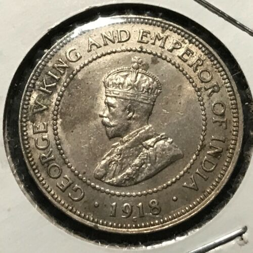 1918-C JAMAICA 1/2 PENNY UNCIRCULATED BEAUTY