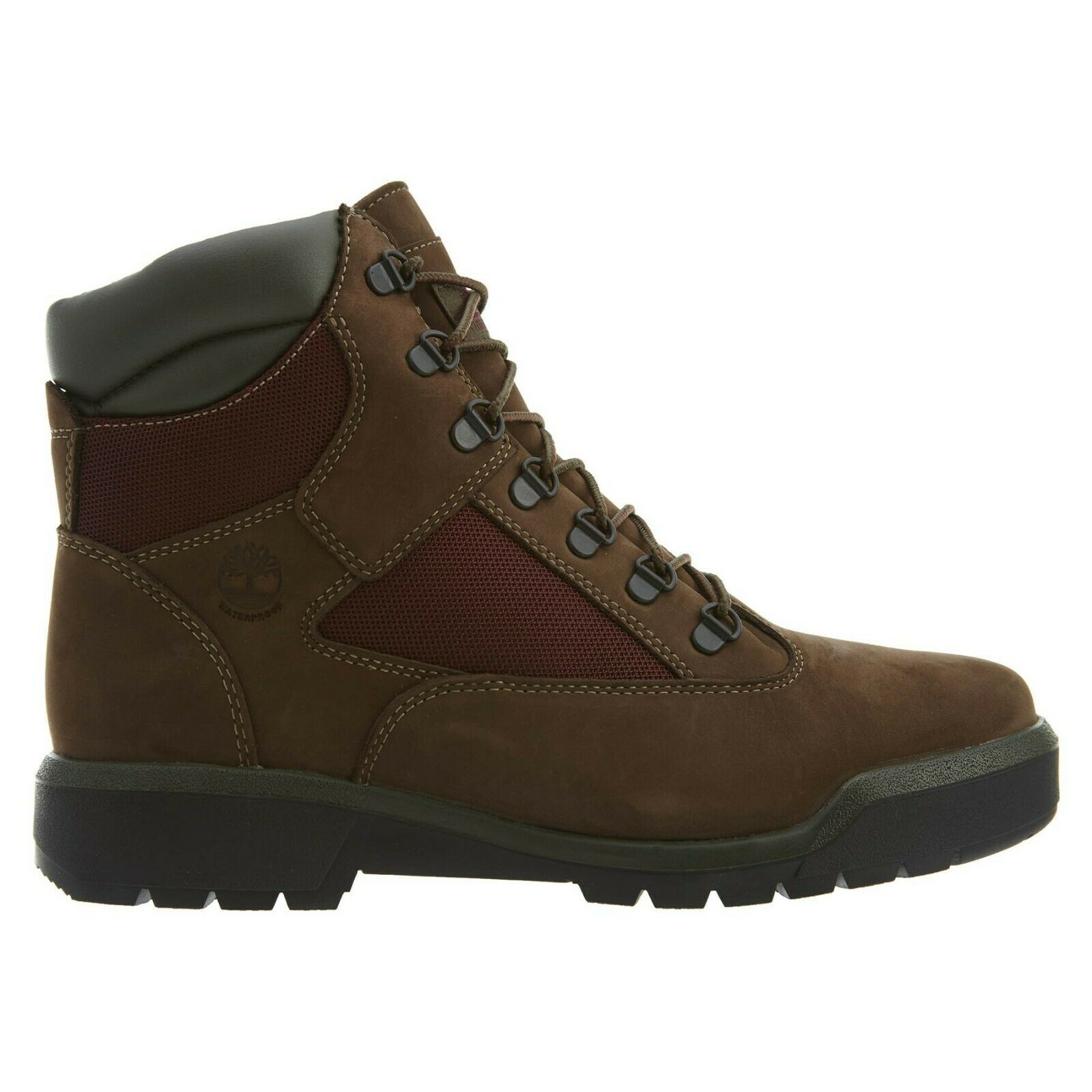 Timberland Men's 6 Inch FIELD Water Proof Boots Dark Brown A