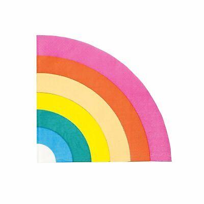 16 Papierservietten Regenbogen bunt | Party-servietten Kindergeburtstag Rainbow