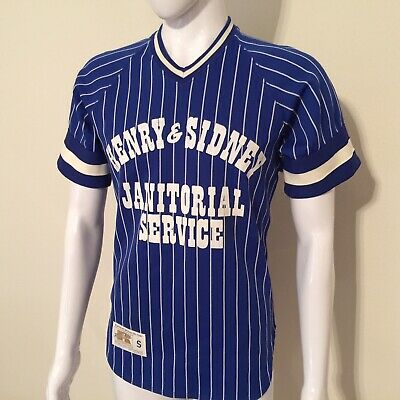 Rare 70s VTG EUC RUSSELL ATHLETIC Baseball Jersey Pin Stripes Shirt • Mens S/M Russell Athletic Ribbed T-shirt