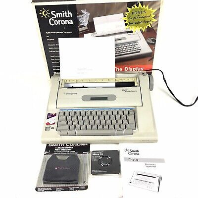 Smith Corona Na3hh Dictionary Typewriter Display 800 Word Processor Extras
