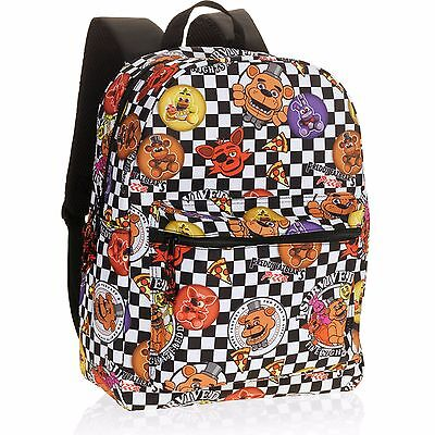 Five Nights At Freddys School Backpack 16  Book Bag Tote Fnaf   New   Usa