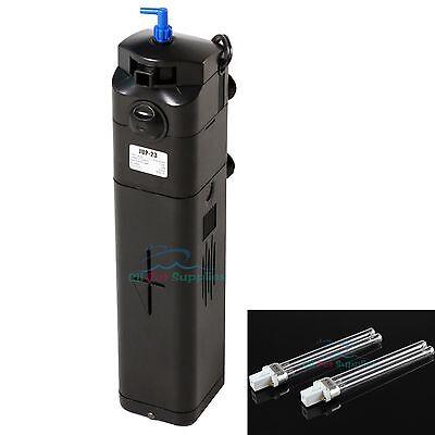 NEW DESIGN! 13W UV Sterilizer Adjustable Pump 150gal Aquarium + replacement bulb