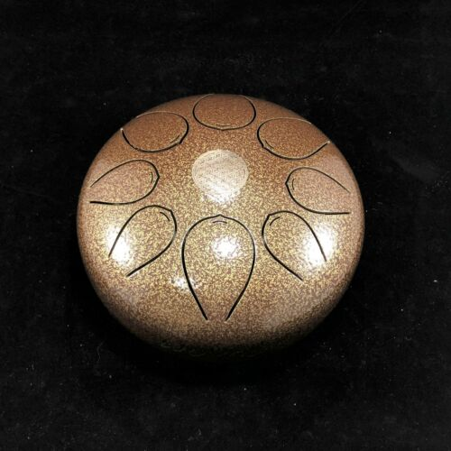 8 Inches WUYOU Steel Tongue Drum Hand pan Yoga Chakra Zen handpan Drum Brown