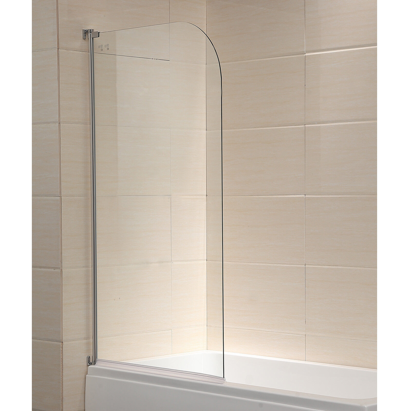 Details About 55x31 1 4 Thick Clear Glass 180 Pivot Radius Framed Shower Door Chrome Finish