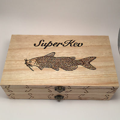 Personalized Tackle Box (Double Fishing Float Box/Case Any Name Any Fish  Personalised With 10)