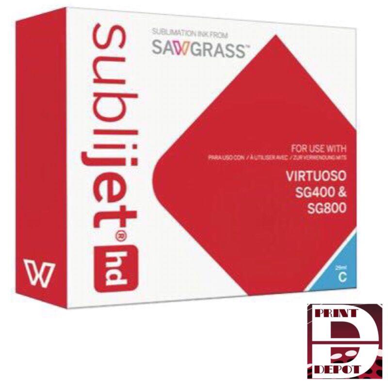 Sawgrass Ink Virtuoso Sublimation Ink Cartridge SG400/SG800 Cyan Sublijet HD