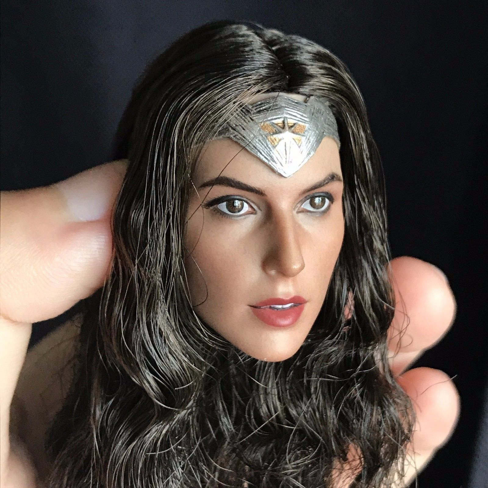❶IN STOCK❶ 1//6 Female Head Sculpt B Gal Gadot Wonder Woman Braided for Phicen
