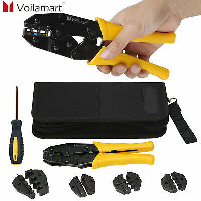 Voilamart 0.5-35mm Cable Crimper Tool Wire Terminal Ratchet Plier Crimping Set