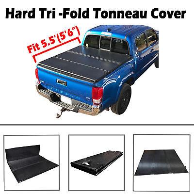 5.5' Hard Tri-Fold Tonneau Cover For 04-18 Ford F150 06-14 Lincoln Mark LT