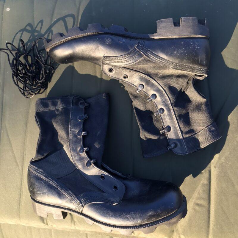 1991 GI Jungle Boots Black Cloth Side Size Men