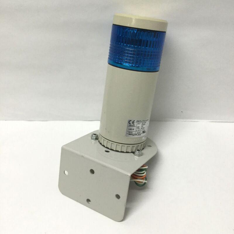 Patlite LME-W Stack Light Beacon Signal Tower Blue LED 24V AC/DC w/ Wall Mount