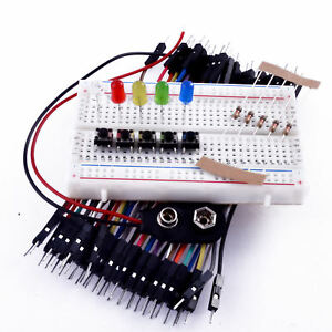 Basic Students Beginners Electronics Prototyping Breadboard Kit with components
