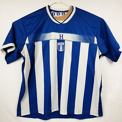 FIFA 2010 South Africa World Cup Honduras Soccer Jersey Blue/White EUC Size XL image
